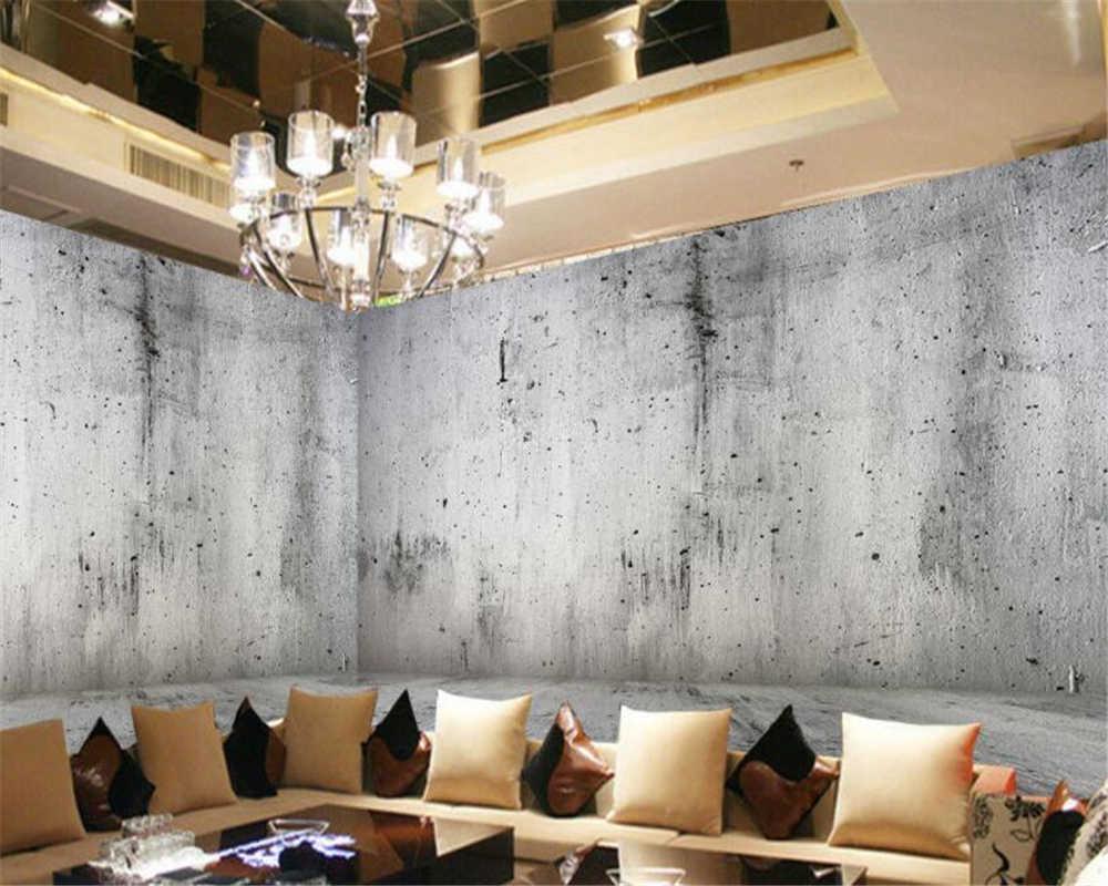 カスタムコンクリート壁写真 3d 壁紙ノスタルジックな石の壁の背景の壁