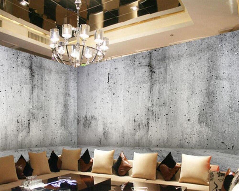 Custom concrete wall photo 3d wallpaper nostalgic stone wall texture ...