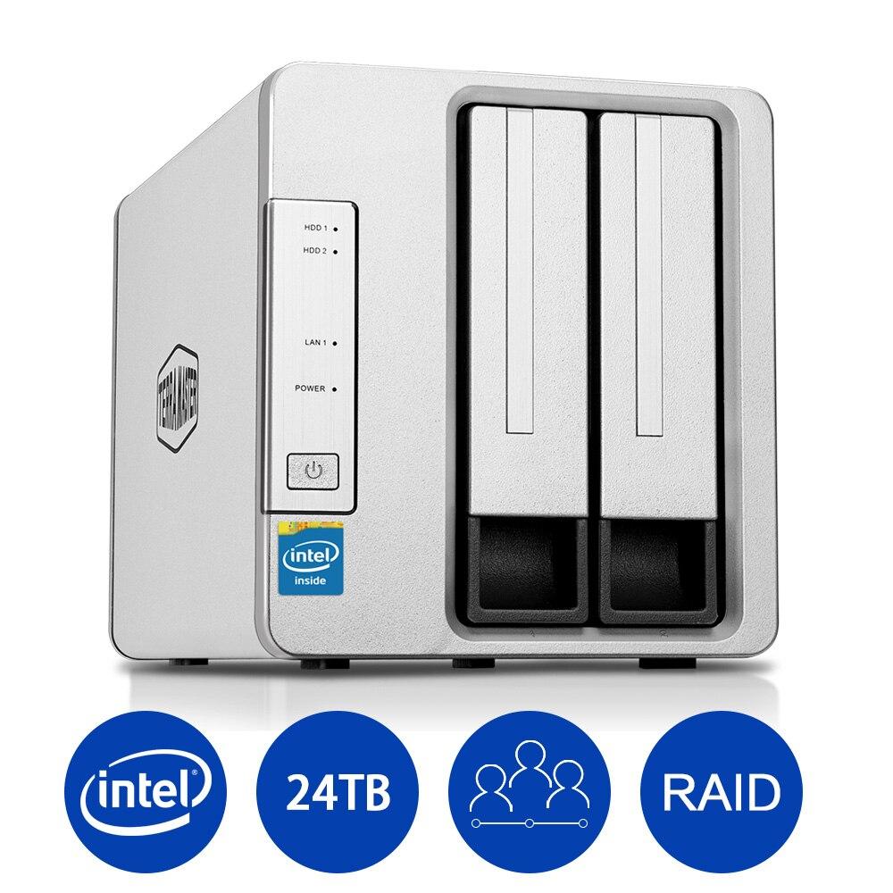 NAS сети хранения 2 отсека сервер Nas Intel Dual Core 2,41 ГГц Nas серуэр Поддержка один диск JBOD RAID 0 RAID 1 Nas для хранения ...