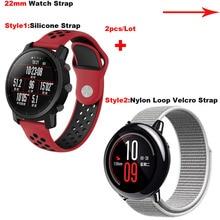 Amazfit pulsera de muñeca banda de reloj 22mm para Xiaomi Huami Amazfit ritmo Stratos 2 Correa para Samsung Gear clásico s3 frontera