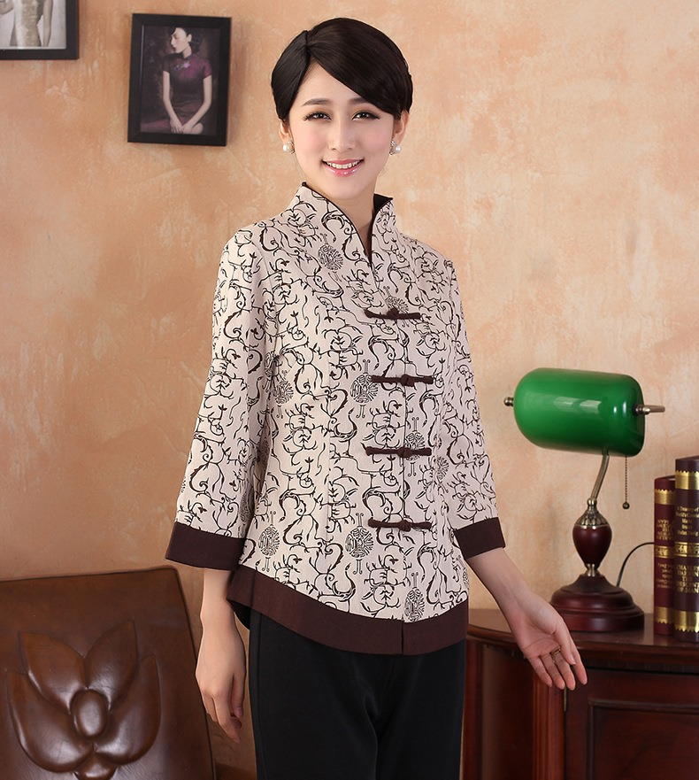 bb06ff83d51 Shanghai Story New Arrival mandarin collar traditional Chinese tops Linen  Top Qipao blouse chinese Blouse Cheongsam Shirt-in Blouses   Shirts from  Women s ...