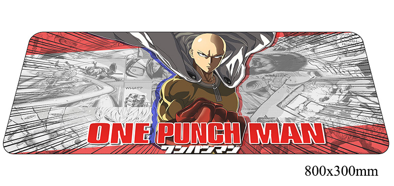 One Punch Man mouse New arrival computer gamer mause pad 800x300X2MM padmouse hot sales mousepad ergonomic gadget desk mats