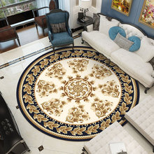 Dressing Table Round 3D Carpet Luxury European Rug Bedroom Blanket Hanging Floor Mat Chair Pad Living Room Rocking