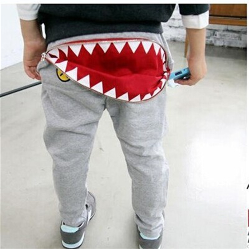 2018 Pants For Boys Fashion Kids Boys Girls Zipper Harem Pants Casual Toddler Loose Trousers сабо желтые igor ут 00015490