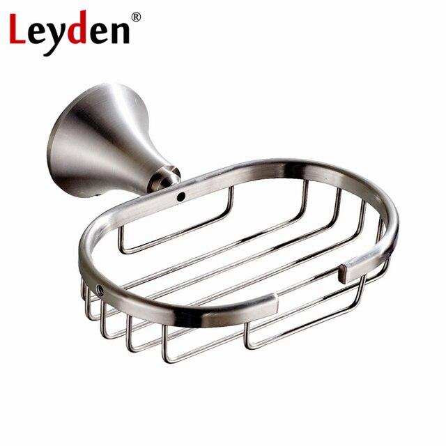 Leyden 304sus Stainless Steel Soap Dish Brushed Nickel Basket Wall Mounted Bathroom Holder Shower