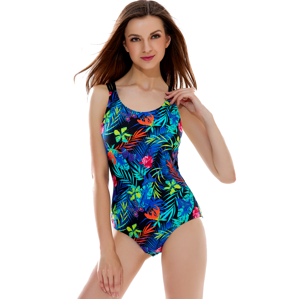 Stylish Printed Backless Hollow-Out One Piece Swimsuit Women Strappy Padded Bathingsuit Beachwear Maillot Summer Teddy Wear