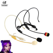 ROLECOS LOL KDA Cosplay DIY KDA Kaisa Ahri Akali Evelynn Microphone Cosplay Accessories Game LOL Akali Microphone DIY Costume(China)