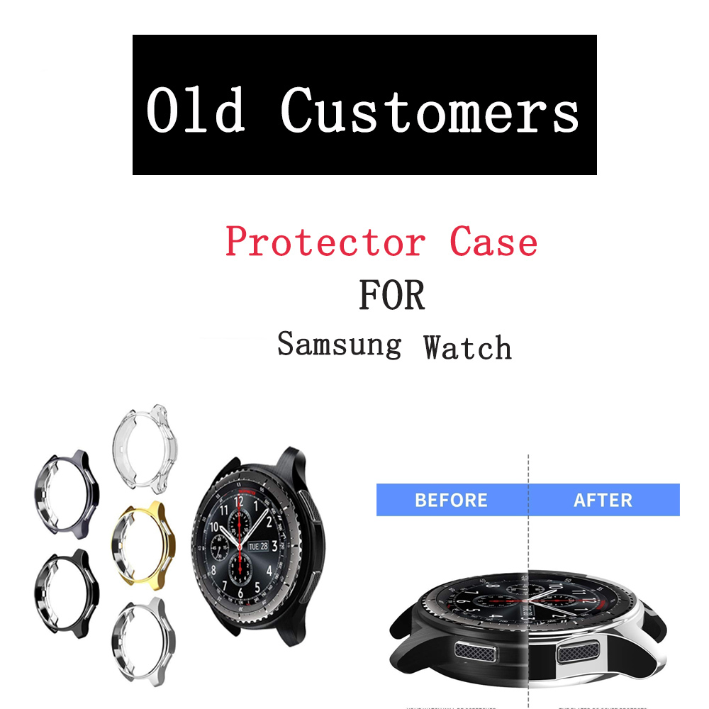 Slim Screen Product Case Cover For Samsung Gear S3 Galaxy Watch 46mm 42mm Soft TPU Plated Protective Cases Shell Frames