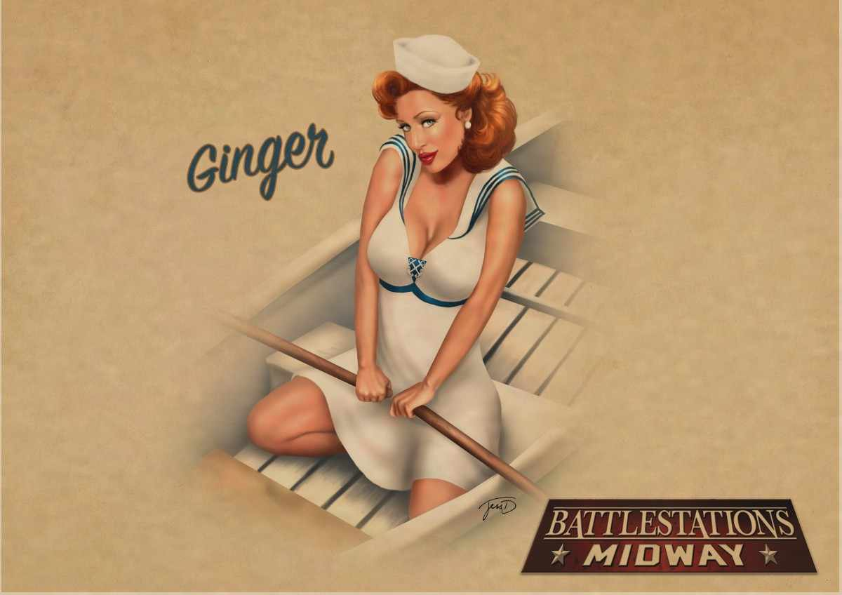 Retro Poster World War Ii Sexy Pin Up Girl Poster Military Bar