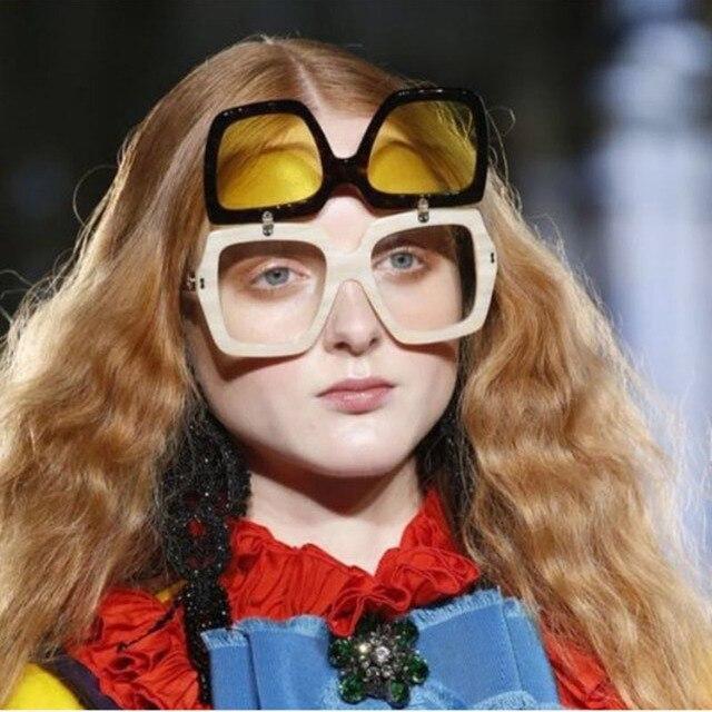 Clamshell Steampunk Homens Carter Praça de Grandes Dimensões Óculos De Sol  Das Mulheres Óculos de Sol 5808fdcf1c