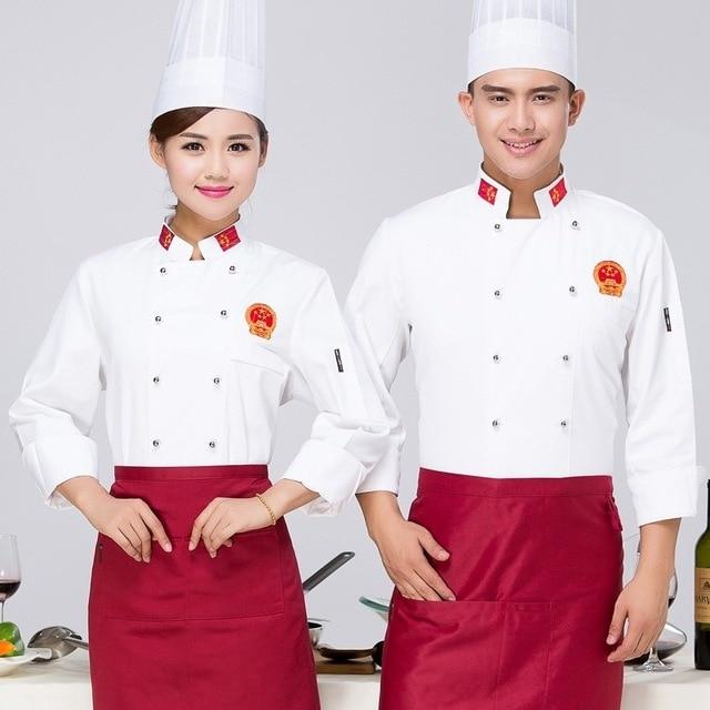 cf3dd890a71 Ropa de Chef de manga larga uniforme de pastel de panadería de la tienda y  el