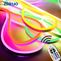 RGB Soft LED Neon Lights AC 220V Fexible Waterproof Outdoors Colorful Light Strip For Decorate Square