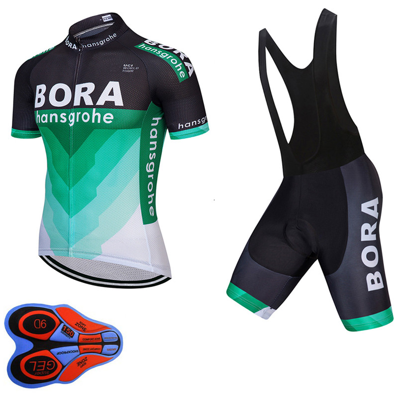 UCI 2018 BORA team männer kurzarm radfahren jersey Tour de frankreich ropa ciclismo fahrradbekleidung bike kleidung trägerhose set A21