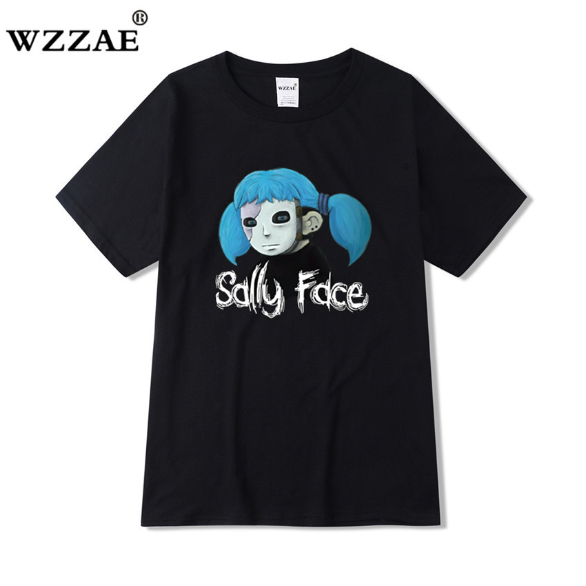 Sally Face t shirt men Harajuku Women Unisex summer 2019 mens tshirts casual clothing letter cartoon print camisetas hombre
