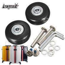AEQUEEN 1 Pair Luggage Wheels OD 43 ID 6 W 18 Axles 35 Repair Set Suitcase Replacement Rubber Luggage Wheels 43X17mm(China)