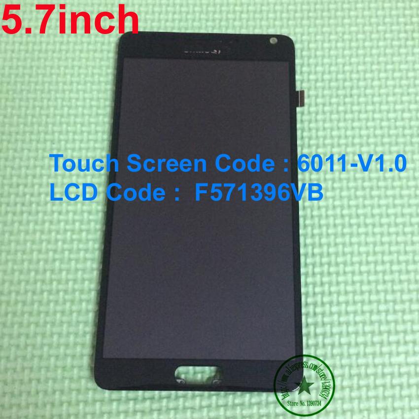 """Prix pour 5.7 """"Écran lcd Avec Écran tactile assemblée + cadre pour Chine Imitation Clone Pour Note4 Note 4 N910 N9005 F571396VB 6011-V1.0"""