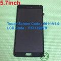 """5.7 """"Display LCD Com Tela de toque + assembleia quadro para China Imitação Clone Para N9005 Nota 4 N910 Nota4 F571396VB 6011-V1.0"""