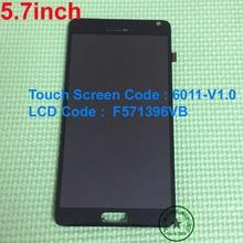 """5.7 """"Pantalla LCD Con la asamblea de Pantalla táctil + frame para China Imitación Clon Para Nota4 Nota 4 N9005 N910 F571396VB 6011-V1.0"""