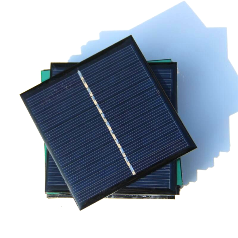 Hot Sale 60PCS/Lot 1W 6V Solar Panel For 3.6V Battery Charger Solar Cell Solar Module Education Kits 85* 82*3MM Free Shipping