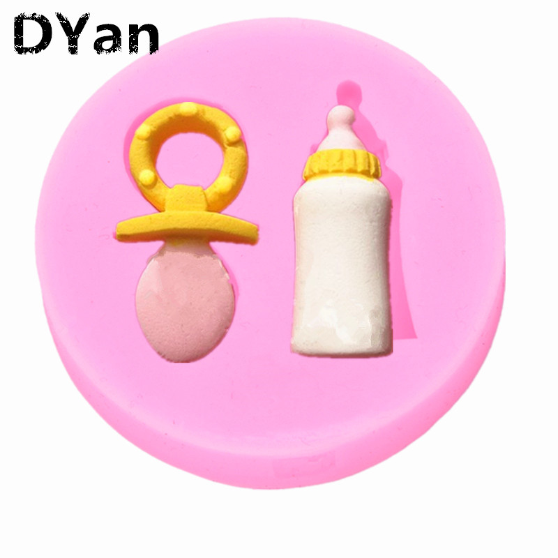 Free Shipping Baby Bottle Nipples Fondant Cake Molds Soap Chocolate Mould For The Kitchen Baking Cake Tool A1136 image