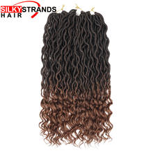 Silky Strands Crochet Hair Extensions Faux Locs Crochet Braids Braiding Hair Bulk Synthetic Hair Ombre Braids Bohemian(China)