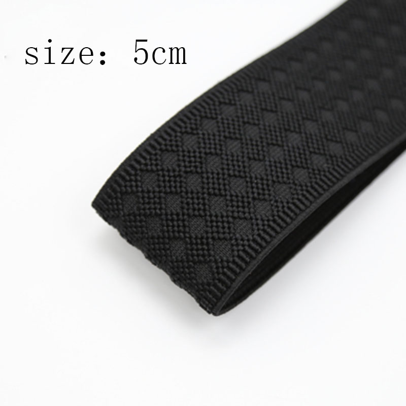 1pc 5 Cm*100cm Grain Trousers Elastic Ribbon DIY Waistband Thickening Latex Webbing Elastic Band Bags' Sewing Cloth