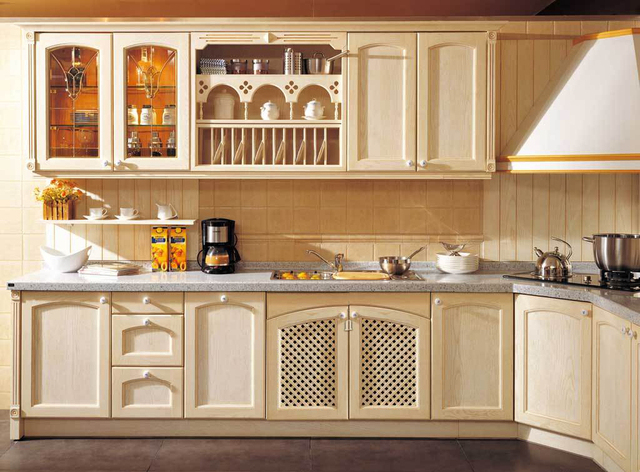 2017 New Style Customized American Solid Wood Kitchen