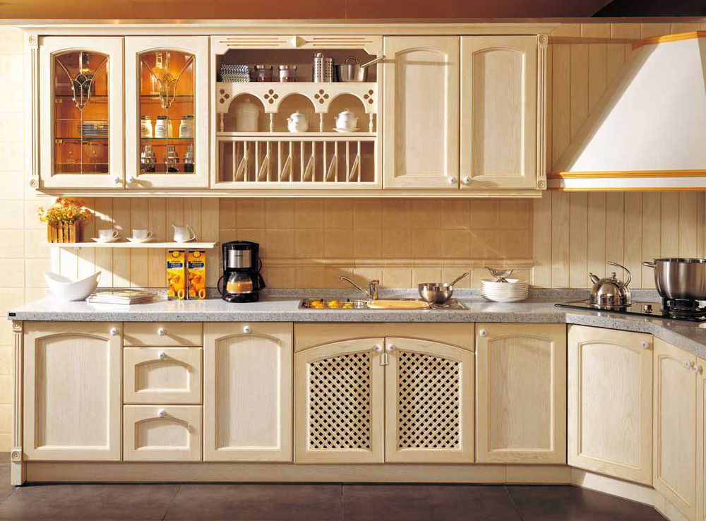 2017 new style customized american solid wood kitchen cabinet classtic kitchen furniture we will make the