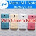 Caixa de bateria meizu m1 note com câmera painel de vidro original substituição de volta a tampa da pele para o meizu m1 note telefone gratuito grátis