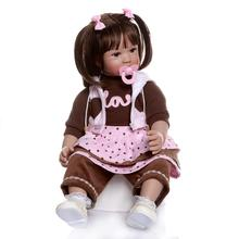 Boneca Reborn 24inch Soft Silicone Vinyl Doll 60cm Soft Silicone Reborn Baby Doll Newborn Lifelike Bebe Reborn Dolls Brinquedos недорого