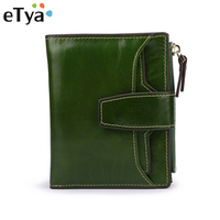 Genuine Leather Women Mini Wallet Portable Short Clutch Wallets High Quality Female Change Purse Lady Coin Purses Card Holder
