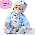 """Последние 22 """"55 см Силиконовые Возрождается Куклы Младенца Лучший Подарок 100% Безопасный И Реалистичное Моделирование Куклы Младенца Новорожденного Для Малыша Brinquedos"""