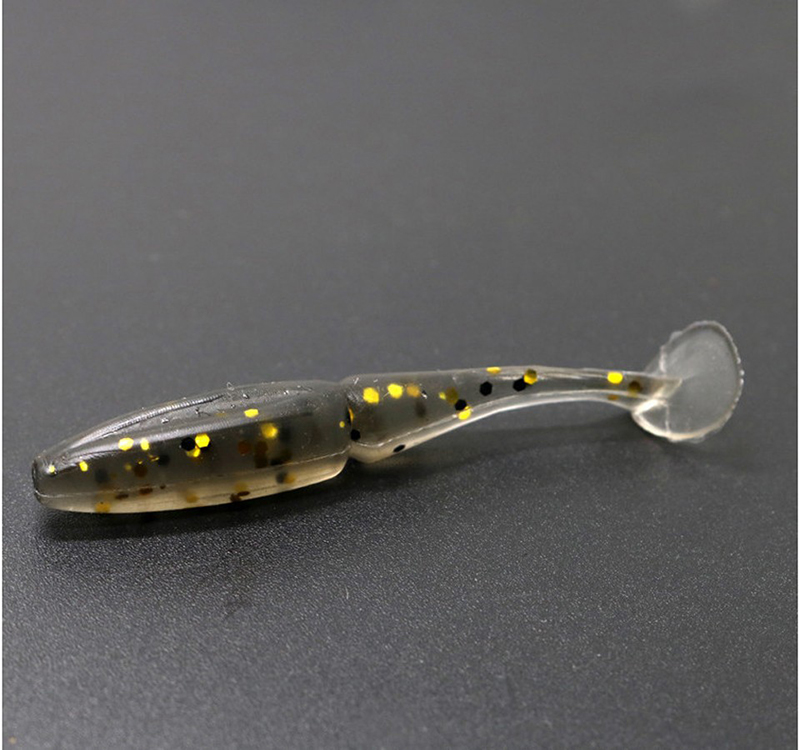 Wholesale 200pcs Artificial Fishing Lure 1 5g 5cm Soft Lure Shad Lure Worm Swimbait Jig Head Fly Fishing Silicon Bait B273 in Fishing Lures from Sports Entertainment
