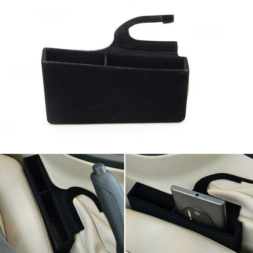1PC Car Auto Seat Telefono Cards Pocket Garbage Bracciolo Organizer - Accessori per auto interni