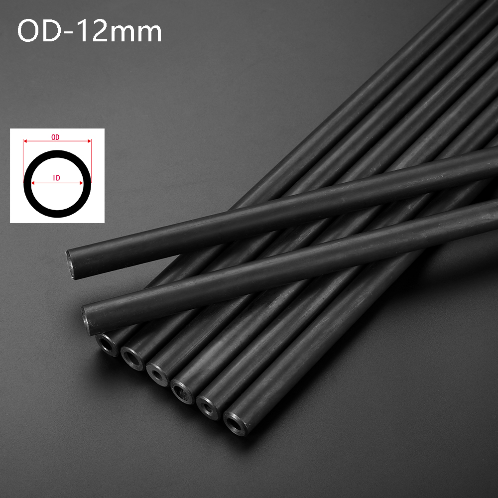 12mm O/D Seamless Steel Pipe Round Tube For Home DIY And Tool Part Explore Proof Tube Print Black