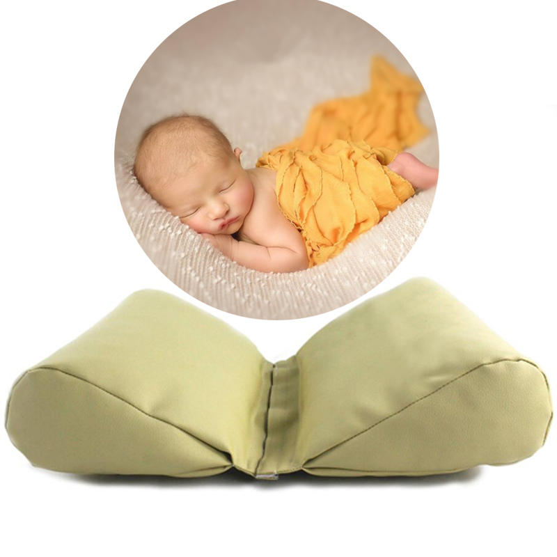 PU Leather Newborn Photography Props Cycle Wedge Shaped Pillow Baby Photo Prop Backdrop Basket Stuffer Atrezzo Fotos 3 Colors цена
