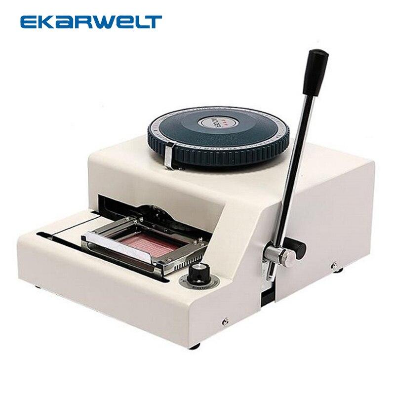 JX-68C manuel d'imprimante de machine de gaufrage de carte d'identification de nom de PVC