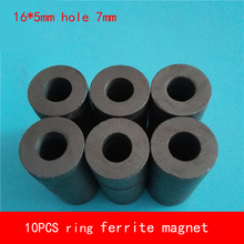 цена на 10PCS D16*5mm hole 7mm work temperature -40 to +220 Celsius ring ferrite magnet for speaker Industry