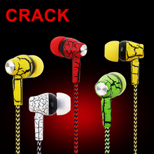 Hot Sale PTM A11 Brand Earphone Crack Universal In ear Headset with Microphone Earbuds for mobile