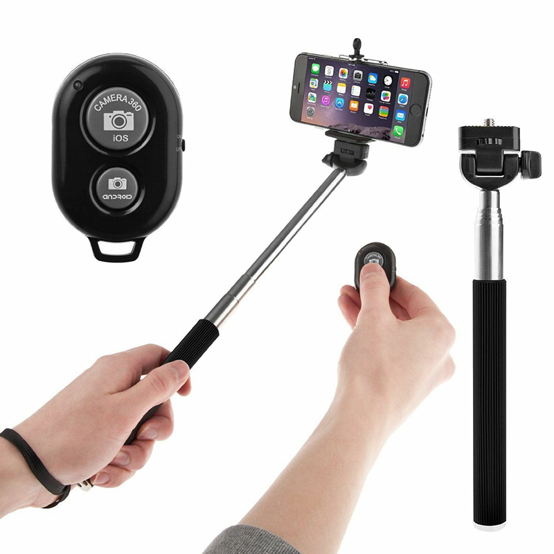 Universal Remote Control Bluetooth Mobile Phone U Shaped Clip Cellphone Accessories Set Extendable Monopod Camera Prop 2019 NEW(China)