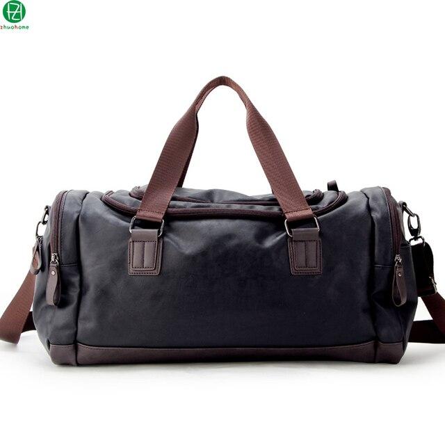 Высокое качество кожа мужчины путешествия камера сумки tote сумки большой емкости мужчины сумка вещевой мешок мужчины плеча crossbody сумки