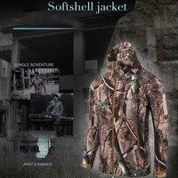 Outdoor Tactical Hunting Jackets Winter Coats Camouflage Waterproof Softshell Windproof Trekking Fleece Army Military Jackets