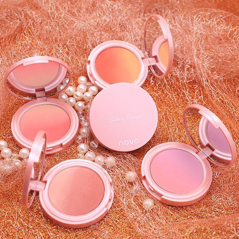 Nouveau maquillage doux rose tendre dégradé blush maquillage nu naturel bicolore blush plaque mode beauté rouge