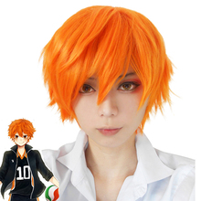 Anime Haikyuu Hinata Shoyo Cosplay Wig short orange Costume Play Wigs For Men Women Halloween Hair