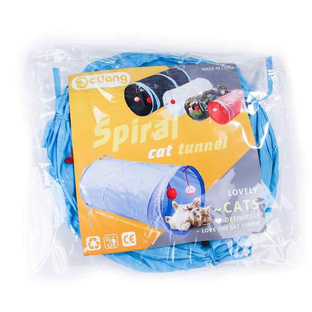 10 색 재미 있은 애완 동물 터널 고양이 놀이 rainbown 터널 브라운 foldable 2 구멍 고양이 터널 새끼 고양이 장난감 대량 장난감 토끼 터널 고양이 동굴