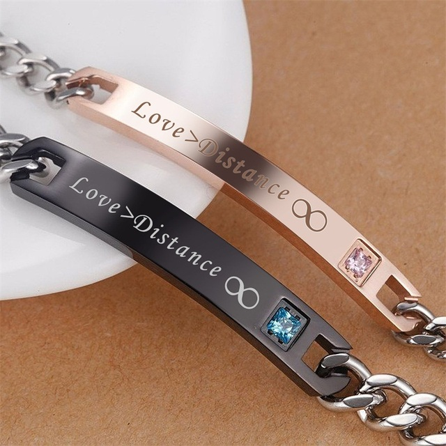 Love Stainless Steel Couple Bracelets