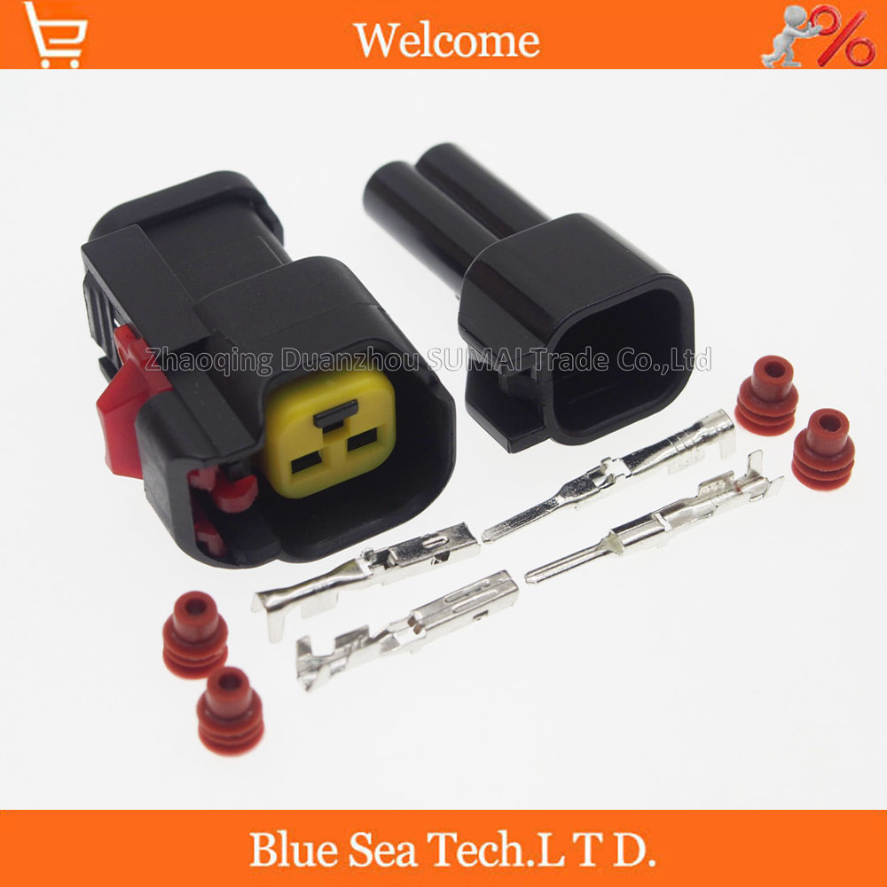 Sample,2 sets 2Pin Oil nozzle plug,Car Speaker / horn plug,Car waterproof electrical connector kits for Ford Chevrolet car etc. 2pin auto fuel spray nozzle oil atomizer plug with pin rubber seal car diesel common rail injector plug for delphi connector
