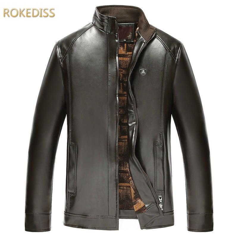 Brand 2016 Mens Winter Casual Jacket Men PU blouson moto Leather blazers Warm Jackets masculino Motorcycle Coat 5XL casaco