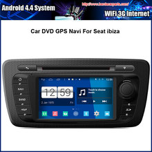 Android 4.4.4 System Car DVD Video Player For SEAT IBIZA With GPS Navigation,Speed 3G, enjoy the Built-in WiFi