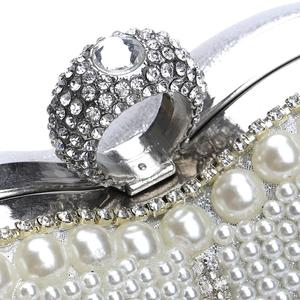 Image 5 - GLOIGTassel Rhinestones Evening Bag Finger Ring Diamonds Wedding Heart Clutch Handbags Chain Shoulder Party Pearl Christmas Gift